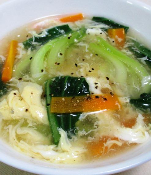 青梗菜とにんじんのスープ B