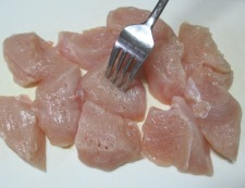 鶏むね肉のガパオ唐揚げ 調理①