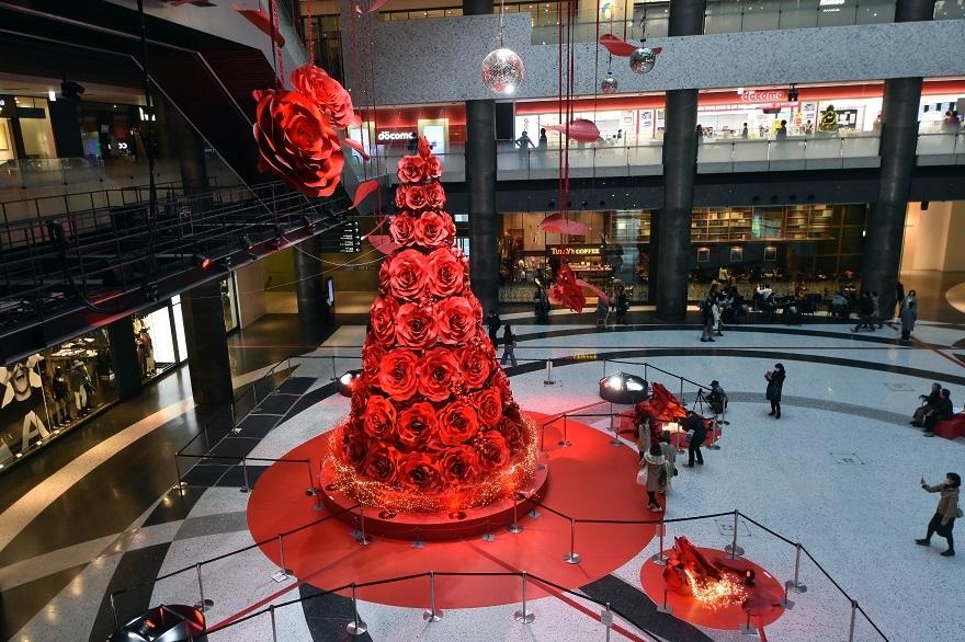 赤いクリスマスツリー (10)