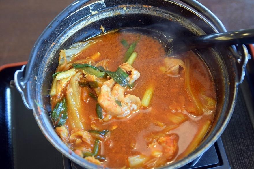 豚肉キムチ鍋 (5)