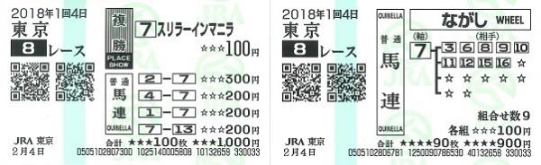 2018.02.4東京8R:1000万下