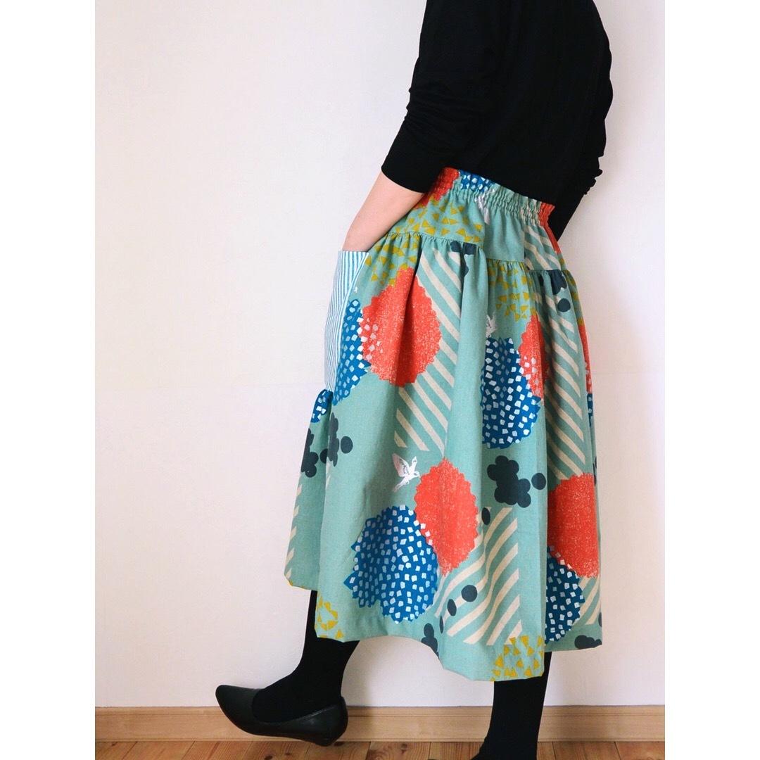 echinoヨークギャザースカート1