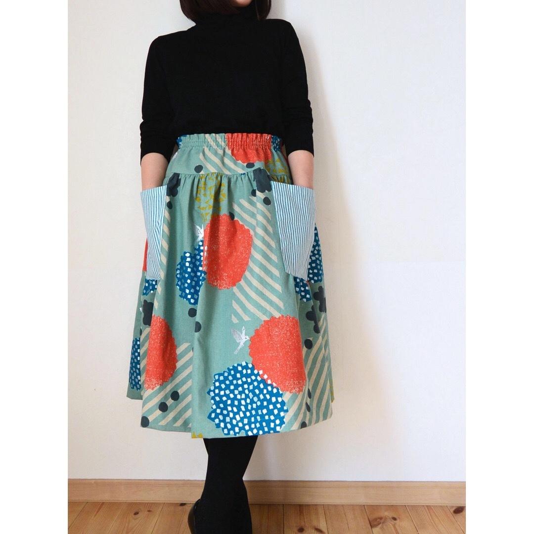 echinoヨークギャザースカート2