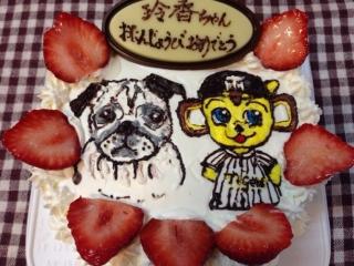 ケーキは虎太郎とキー太