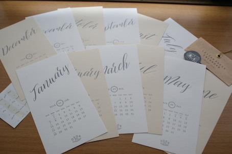 180105活版印刷カレンダー