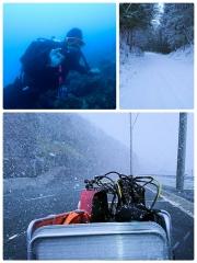 1_雪中ダイビング