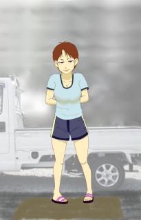 girl at a fishmonger-s
