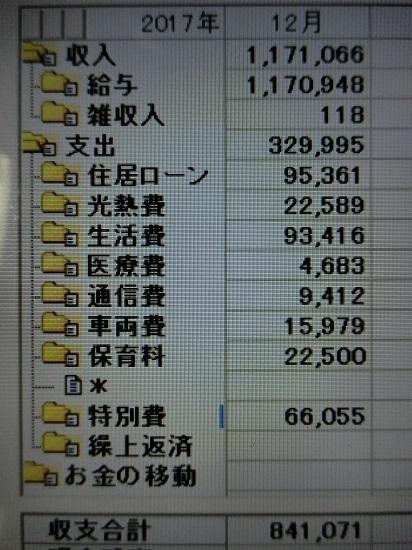 2017/12 kakeibo