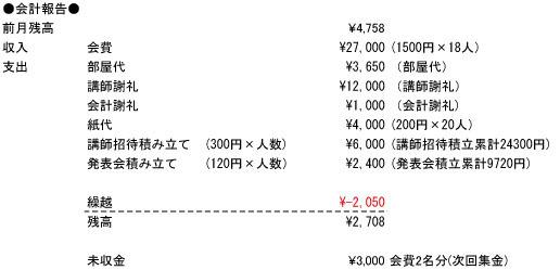 会計報告H30-1月