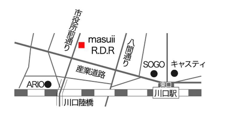 川口グループ展地図