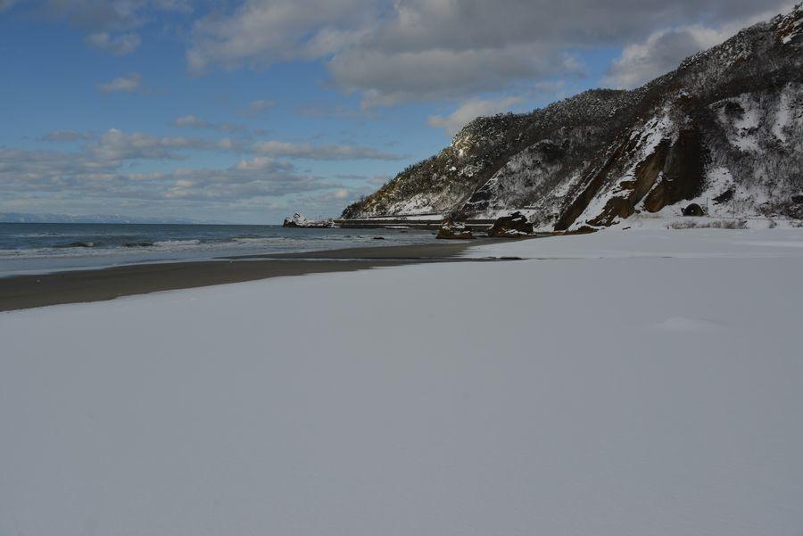 雪の海岸-1