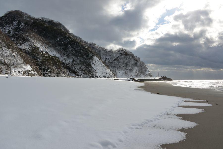 雪の海岸-2
