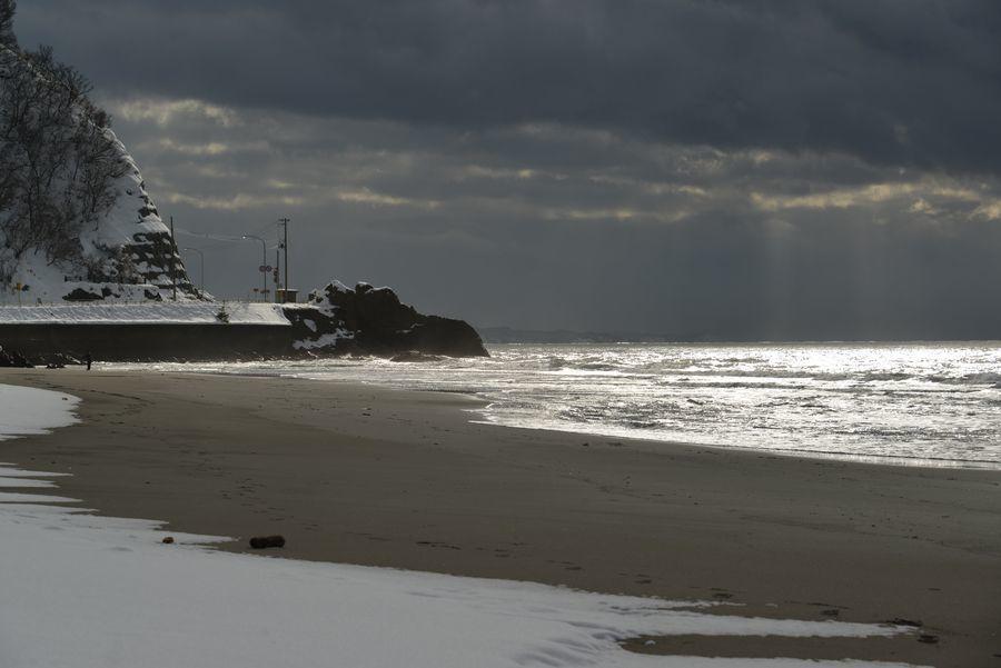 雪の海岸-3