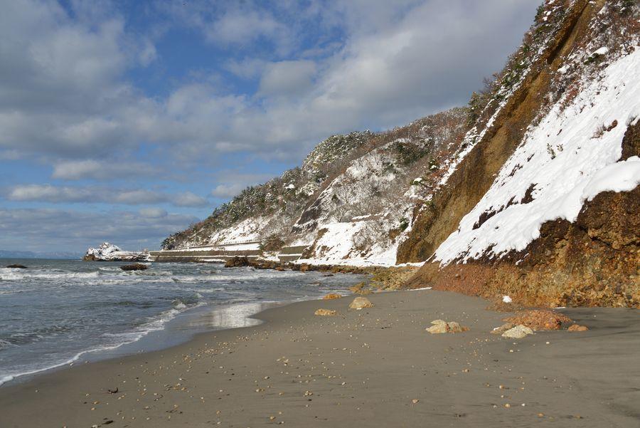 雪の海岸-5