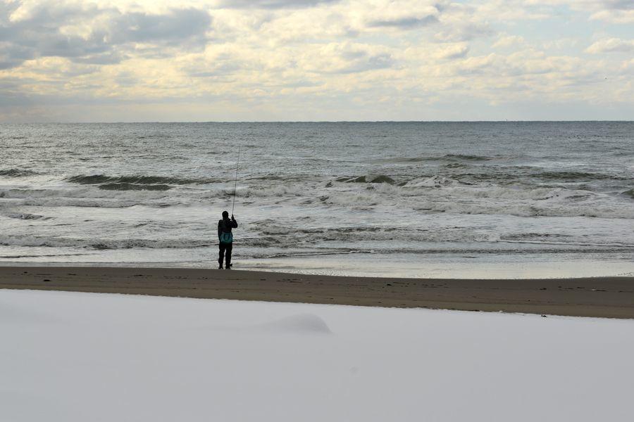 雪の海岸-7