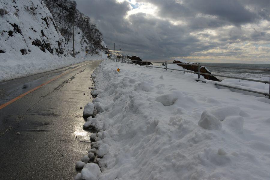 雪の海岸-11