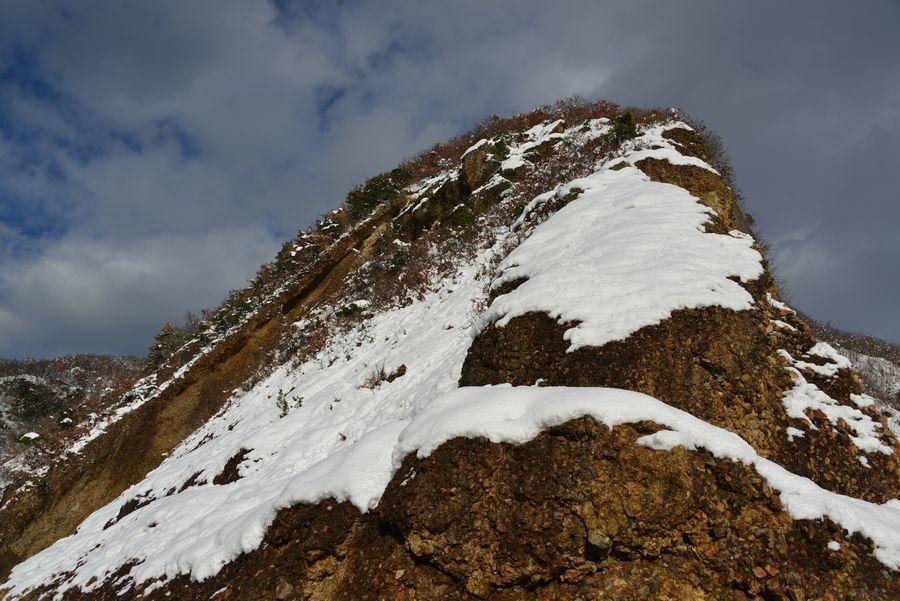 雪の海岸 岩-5