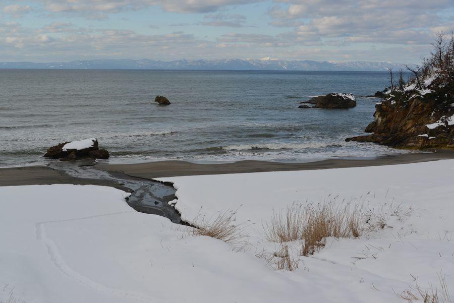 雪の海岸へ-1
