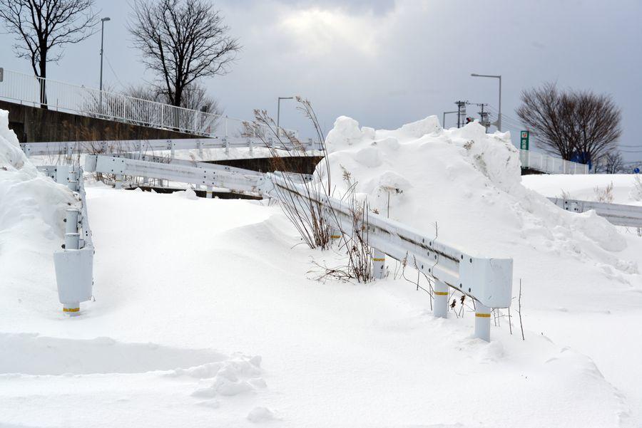 雪の中で-4
