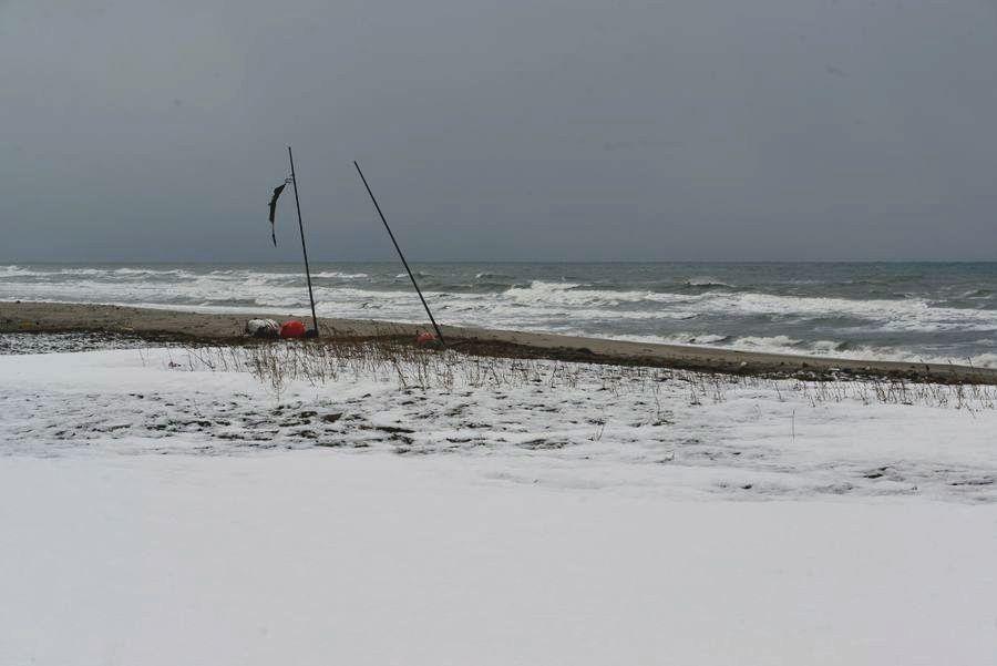 雪の野積海岸-2