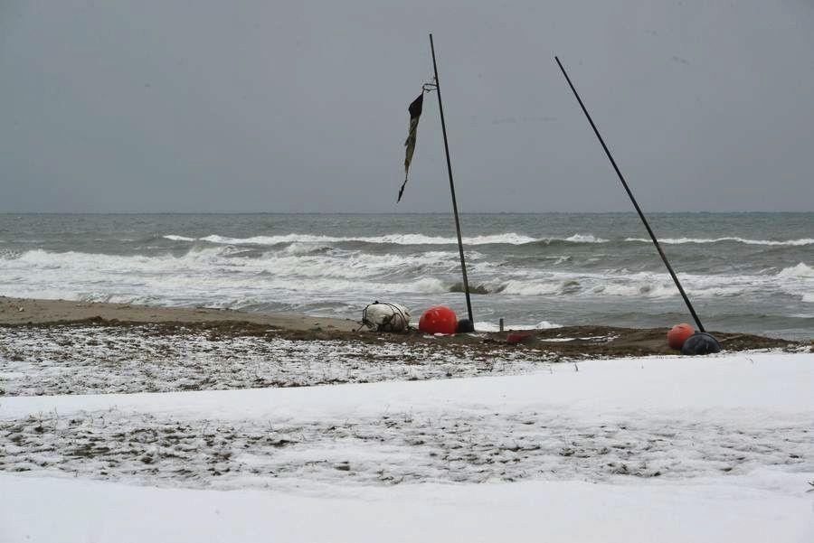 雪の野積海岸-3