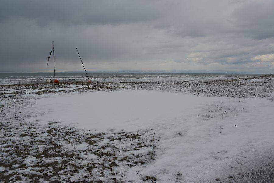 雪の野積海岸-4
