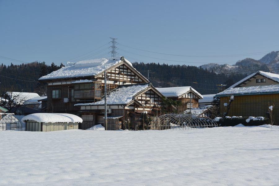 雪の山里-4