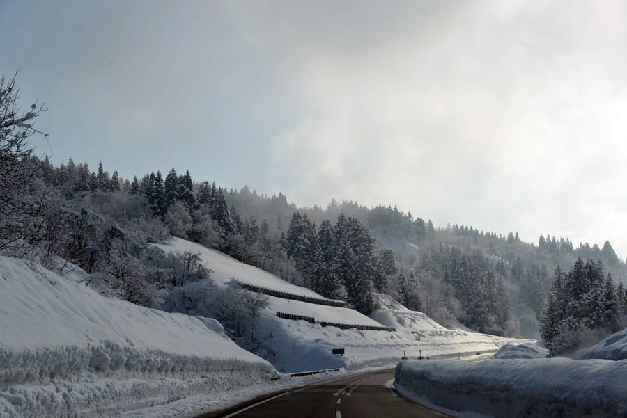 冬の関越を走る-2