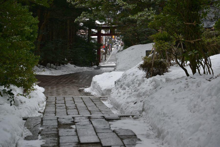 雪の神社-2