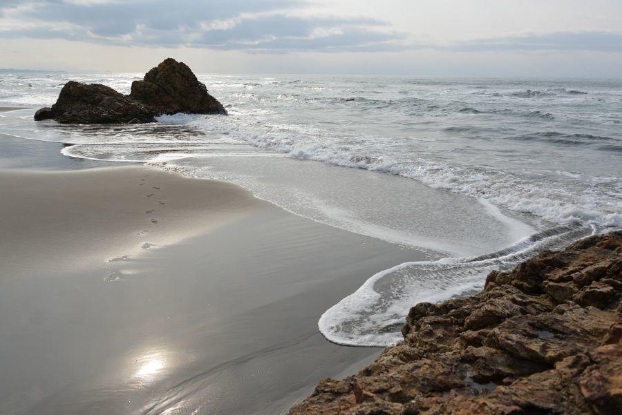 砂浜に-1