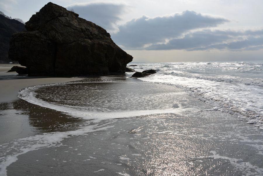 砂浜に-4