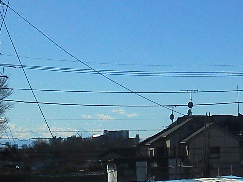F1000166赤塚諏訪神社歩道橋からの富士201801041320
