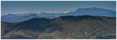 大峠展望所から山