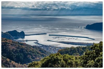 大峠展望所から海