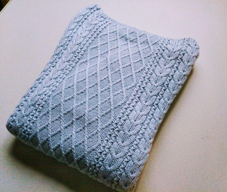 無印良品オーガニックコットンケーブル柄セーター1