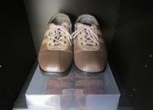靴収納 100円ショップ透明ケース (4)