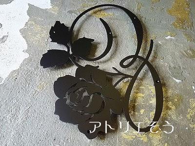 イニシャルZ+薔薇妻飾り