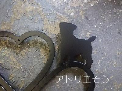 オリジナルアルミ製妻飾り+犬