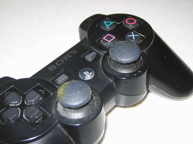 DS3 Dualshock3 デュアルショック3 Wireless Controller Black CECHZC2J A1 左右スティックの汚れ状態