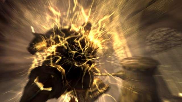 PC 版 DARK SOULS with ARTORIAS OF THE ABYSS EDITION(Prepare To Die Edition) DSfix スクリーンショット、エリア アノール・ロンド(Anor Londo) エリアボス 竜狩りオーンスタイン撃破後、処刑者スモウ強化シーン