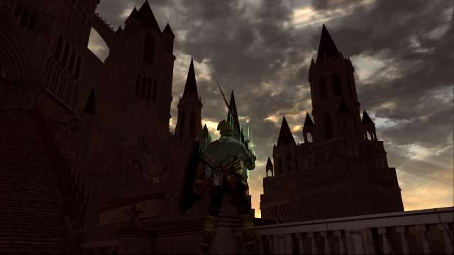 PC 版 DARK SOULS with ARTORIAS OF THE ABYSS EDITION(Prepare To Die Edition) DSfix スクリーンショット、エリア アノール・ロンド(Anor Londo) 橋・王城前