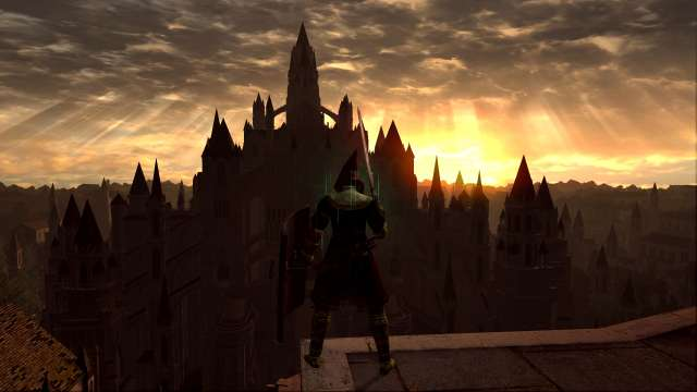 PC 版 DARK SOULS with ARTORIAS OF THE ABYSS EDITION(Prepare To Die Edition) DSfix スクリーンショット、エリア アノール・ロンド(Anor Londo)