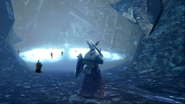 PC 版 DARK SOULS with ARTORIAS OF THE ABYSS EDITION(Prepare To Die Edition) DSfix スクリーンショット、エリア 結晶洞穴(Crystal Cave) エリアボス 白竜シース前