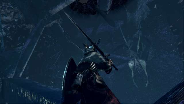 PC 版 DARK SOULS with ARTORIAS OF THE ABYSS EDITION(Prepare To Die Edition) DSfix スクリーンショット、エリア 結晶洞穴(Crystal Cave) 月光蝶