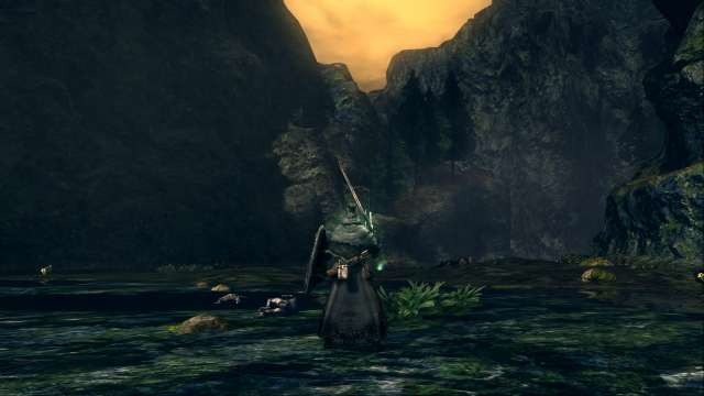 PC 版 DARK SOULS with ARTORIAS OF THE ABYSS EDITION(Prepare To Die Edition) DSfix スクリーンショット、エリア 王家の森庭(Royal Wood) 黒竜カラミット 撃破後