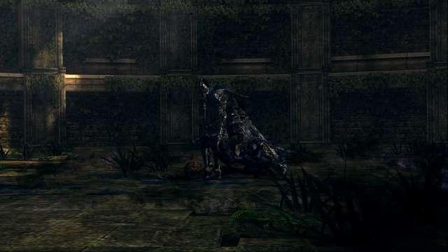 PC 版 DARK SOULS with ARTORIAS OF THE ABYSS EDITION(Prepare To Die Edition) DSfix スクリーンショット、エリア 王家の森庭(Royal Wood) エリアボス 騎士アルトリウス 登場シーン