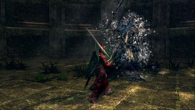 PC 版 DARK SOULS with ARTORIAS OF THE ABYSS EDITION(Prepare To Die Edition) DSfix スクリーンショット、エリア 王家の森庭(Royal Wood) エリアボス 騎士アルトリウス 撃破