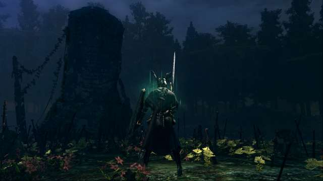 PC 版 DARK SOULS with ARTORIAS OF THE ABYSS EDITION(Prepare To Die Edition) DSfix スクリーンショット、エリア 黒い森の庭(Darkroot Garden) エリアボス 灰色の大狼シフ 撃破後