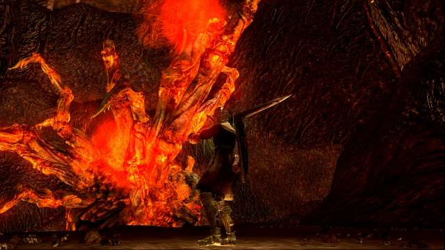 PC 版 DARK SOULS with ARTORIAS OF THE ABYSS EDITION(Prepare To Die Edition) DSfix スクリーンショット、エリア デーモン遺跡(Demon Ruins) エリアボス 爛れ続けるもの戦前