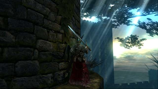PC 版 DARK SOULS with ARTORIAS OF THE ABYSS EDITION(Prepare To Die Edition) DSfix スクリーンショット、エリア 火継ぎの祭祀場(Firelink Shrine) エリア 北の不死院方面